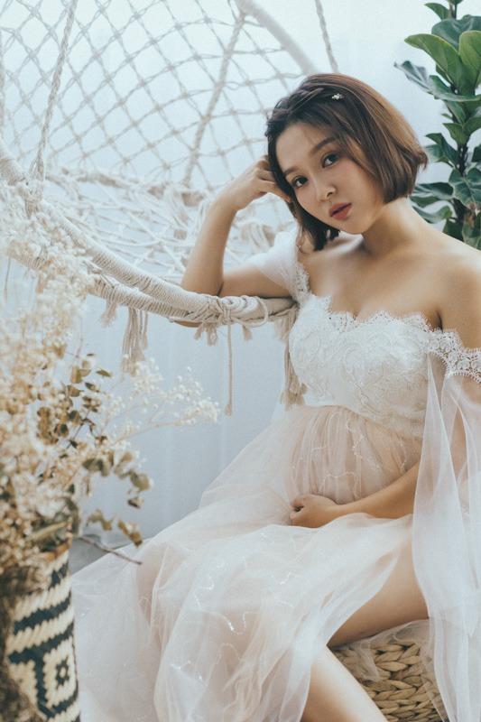 孕婦婚紗作品