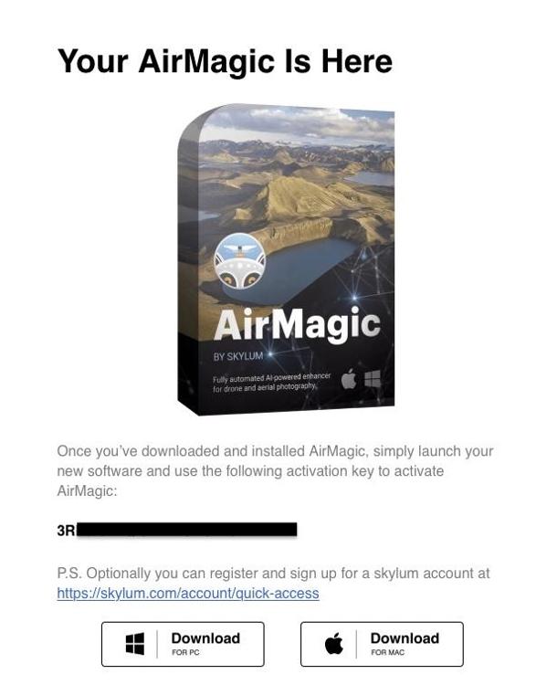 Skylum AirMagic 免費序號示意圖